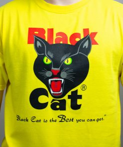 Black Cat Yellow T-Shirt 2
