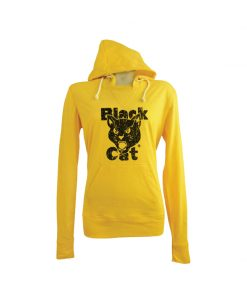 Black Cat Hooded Tee